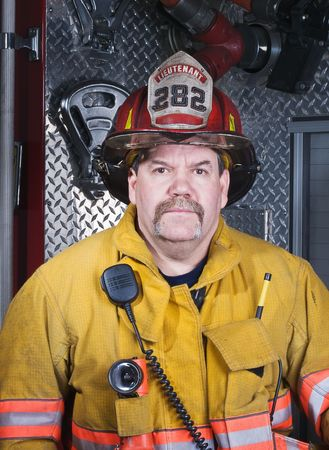 Firefighter Portrait Stock Photo