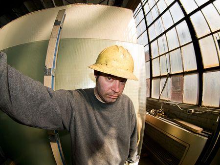 Maschio Construction Worker Archivio Fotografico