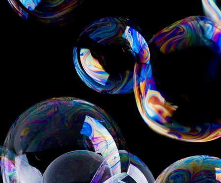 crystal background: Soap Bubbles