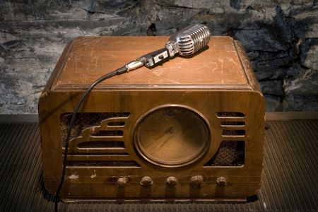 Vintage Radio and Microphone