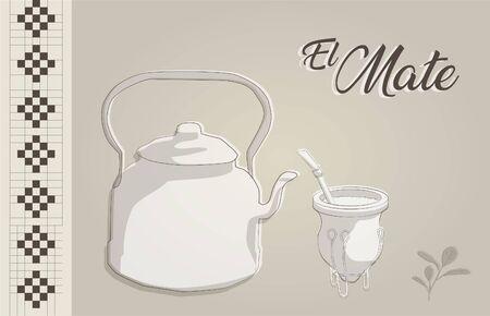 el mate Ilustración de vector