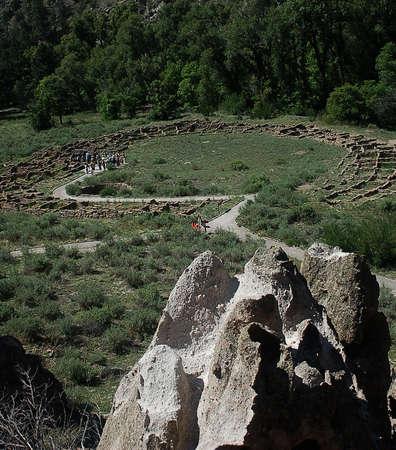 anasazi ruins: Ruins at Bandelier