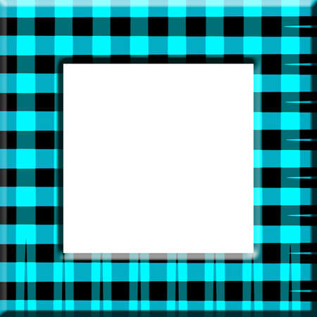 Blue Black Checked Frame 스톡 콘텐츠