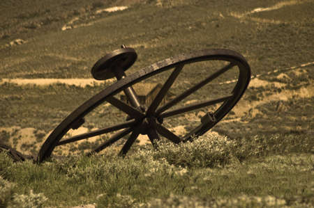 bodie: Iron Wheel in Sepia from Bodie, California