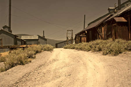 Abandoned Mining District of Bodie, California, a ghost town and state park. Stock Photo