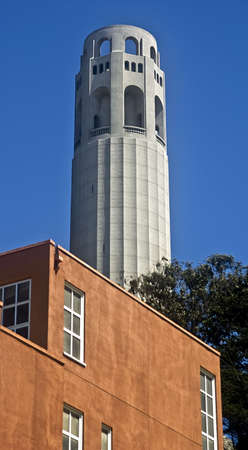 telegraph hill: Coit Tower in San Francisco
