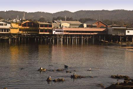 wharf: Montereys Fishermans Wharf - North Side Stock Photo