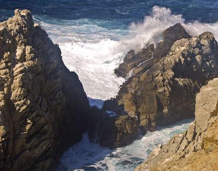 crashing: Crashing Pacific Waves Stock Photo