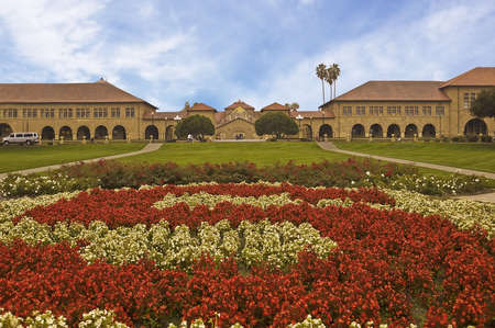 Stanford Quadrangle with the Rose S