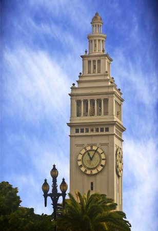 and authority: San Francisco Autoridad Portuaria de Torre del Reloj Foto de archivo