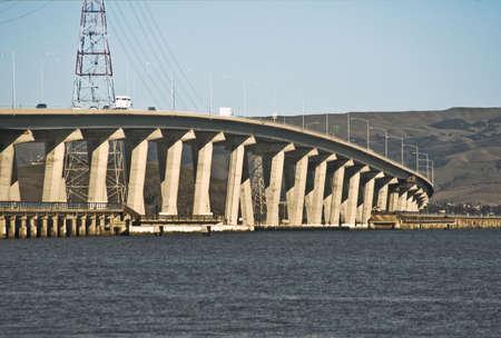 Dunbarton Bridge across the San Francisco Bay Stock Photo