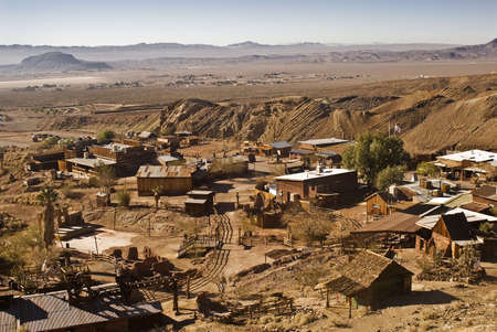 View of Calico - a ghost town and county park Stock Photo