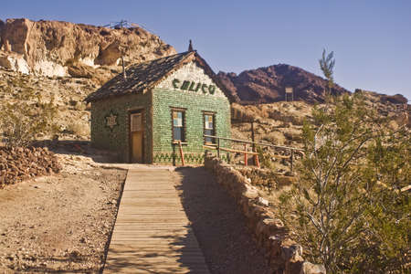 ghosts: Calicos famous bottle house - ghost town and county park