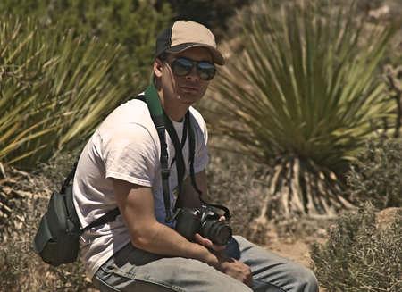 Tired Desert Photographer