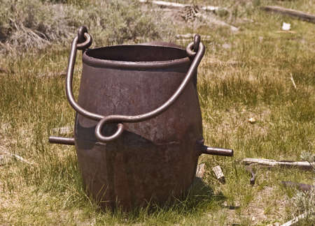 Old and Antique Ore Bucket Stock Photo