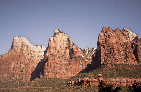 Three Patriarchs- Abraham, Isaac, & Jacob - Zion National Park