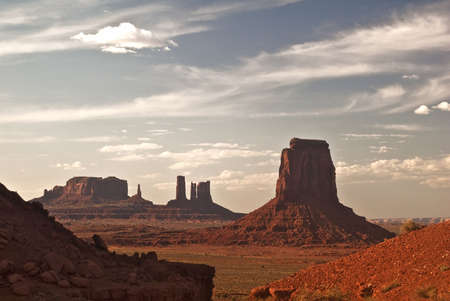valley view: Monument Valley View Archivio Fotografico
