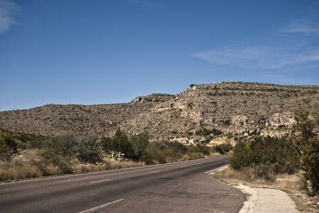 Desert Highway through Carlsbad Caverns National Park