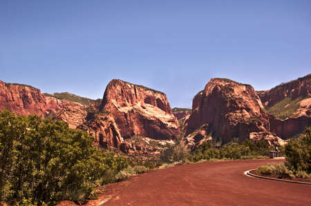 Zion Canyon Peaks Stock Photo