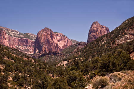 Zion Canyon Peaks Stock Photo - 7606681
