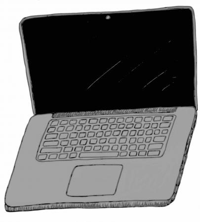 15 inch: Laptop Computer Doodle