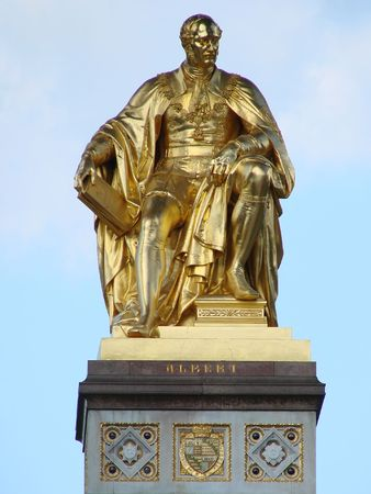 Gold Plated Statue from the Albert Memorial in Kensington Park, London Stock Photo - 537239