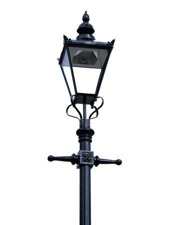Vintage streetlamp on white background