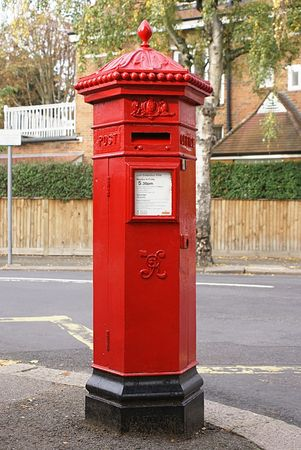 Victorian Mailbox on a street in London, England Stock Photo - 571417