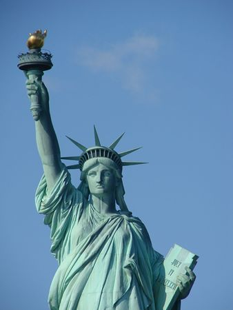 declaration of independence: Statue of Liberty Stock Photo