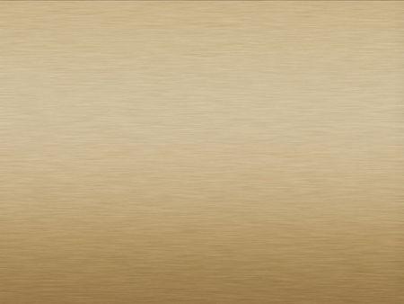 Brushed Gold plate metallic background with horizontal pattern Standard-Bild