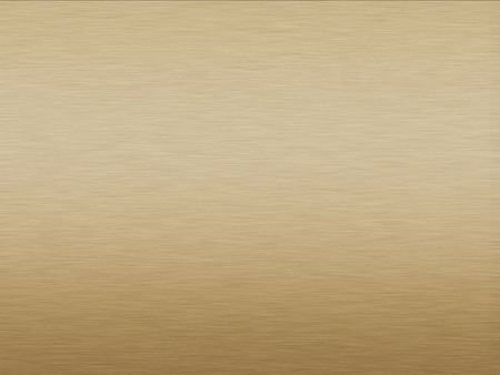 Brushed Gold plate metallic background with horizontal pattern Stock Photo