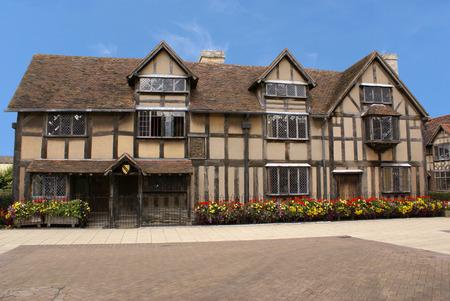 William Shakespeare's Birthplace in Stratford, England Standard-Bild