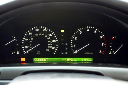 Car Speedometer and Illuminated Dashboard Display Items