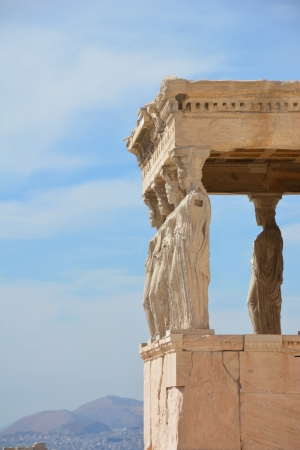 Temple Of Athena at The Acropolis in Athens, Greece