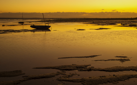Sunset at Leigh On Sea, Essex Stock Photo