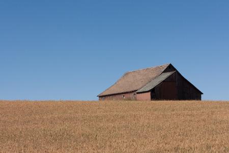 アイダホ州の納屋 写真素材