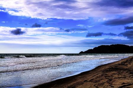 Pristine beach seascape