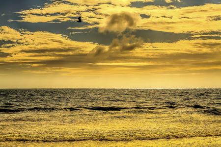 choppy: Choppy seas cloudscape seascape Stock Photo