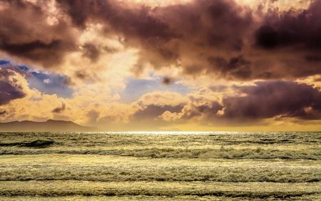 Majestic cloudscape seascape Stock Photo