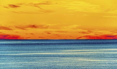Majestic sunset seascape Stock Photo