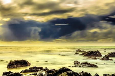 Foggy morning seascape