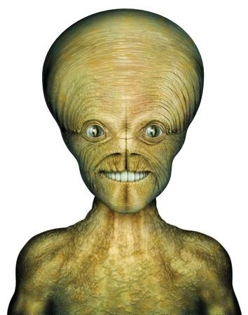 Digital Illustration of an alien Stock Illustration - 15221285