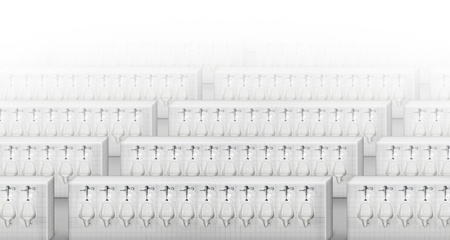 illustration of the largest bathroom in the world.