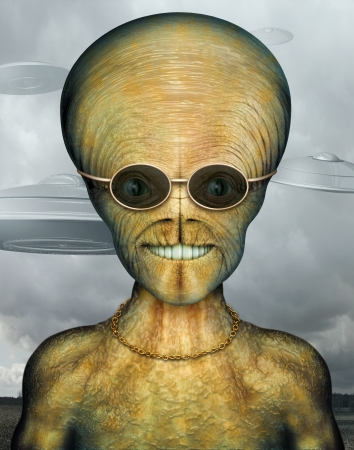 Digital Illustration of an alien