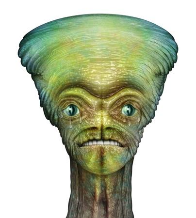 Digital Illustration of an alien Stock Illustration - 15221247