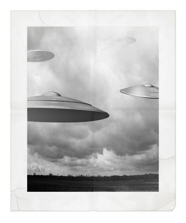 Ufo のデジタル イラストレーション
