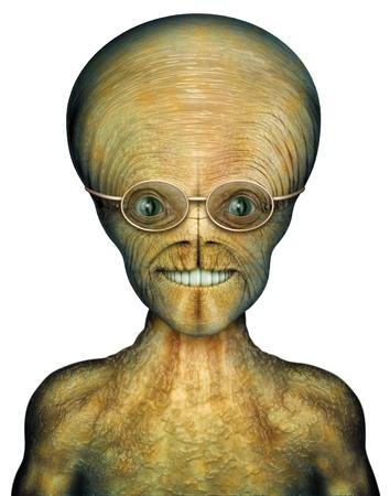 invader: Digital Illustration of an alien