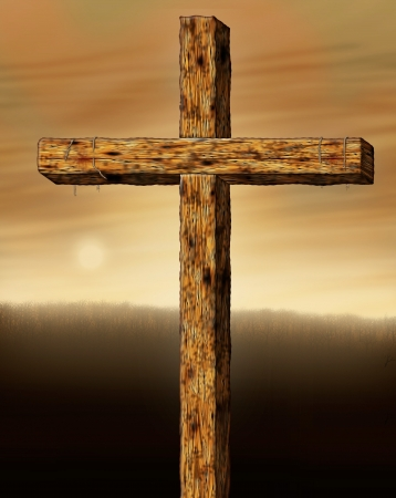 redemption: Illustration of the cross of Christ  Stock Photo