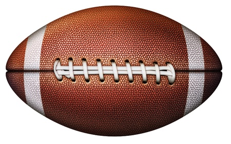 Digital illustration of a football. Stock Photo