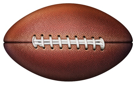 Digital illustration of a football without stripes. Stock Photo